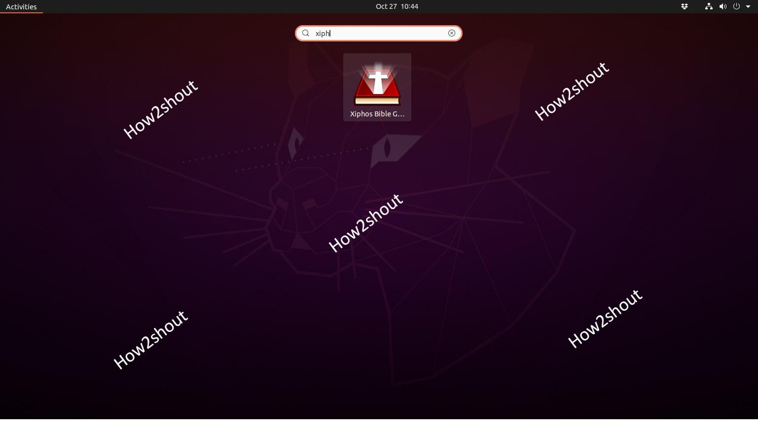 Xiphos on Ubuntu 20.04