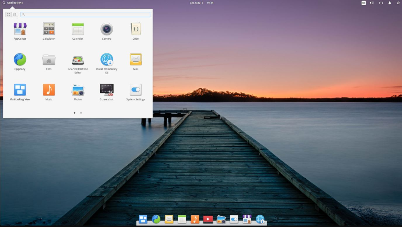 elementary OS Linux min