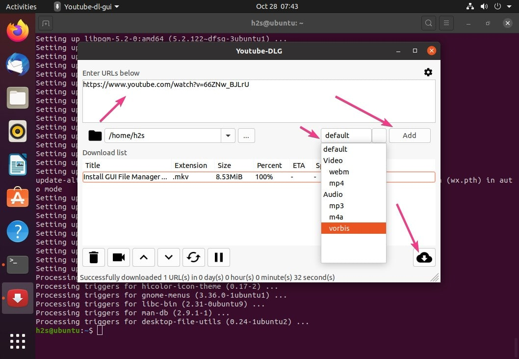 install youtube dlg gui ubuntu 20.04 Linux