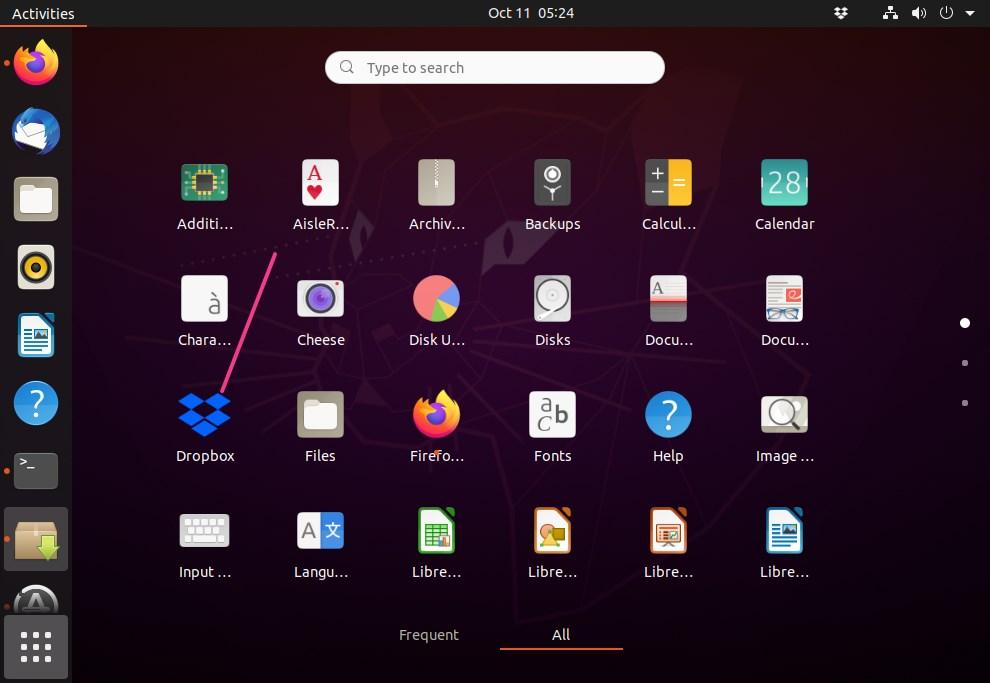 Dropbox Ubuntu 20.04
