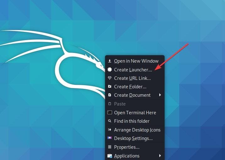 Create Telegram Desktop shortcut on Kali Linux