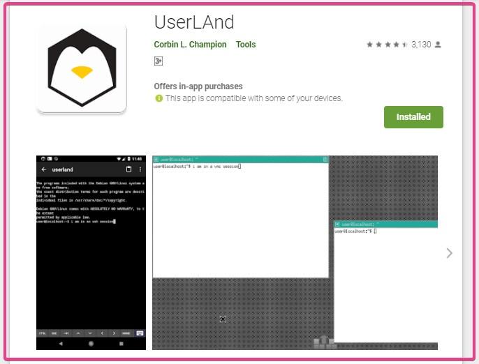 Téléchargez l'application Android Userland