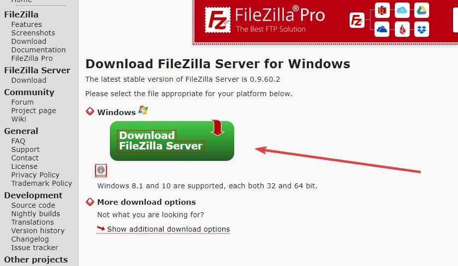 FileZilla Server Download