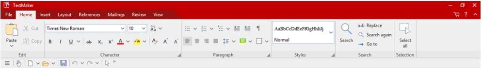 FreeOffice ribbon interface