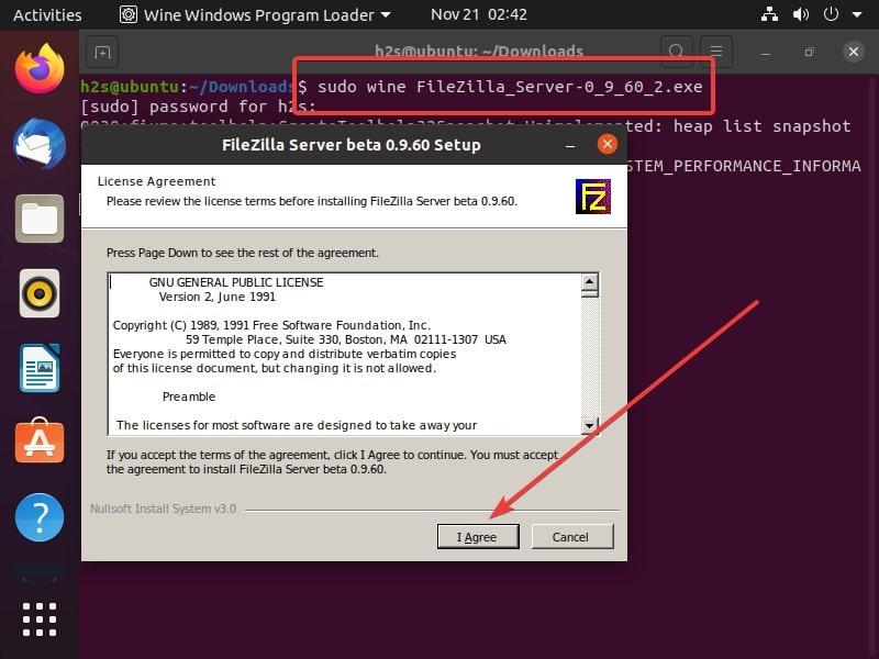 Install FileZilla serevr Command min