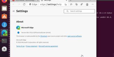 Install Microsoft Edge browser on Ubuntu 20.04 LTS