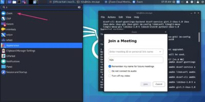 Install Zoom client for Kali Linux