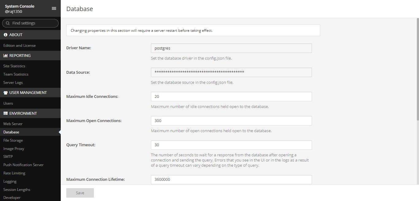 Postgres database min