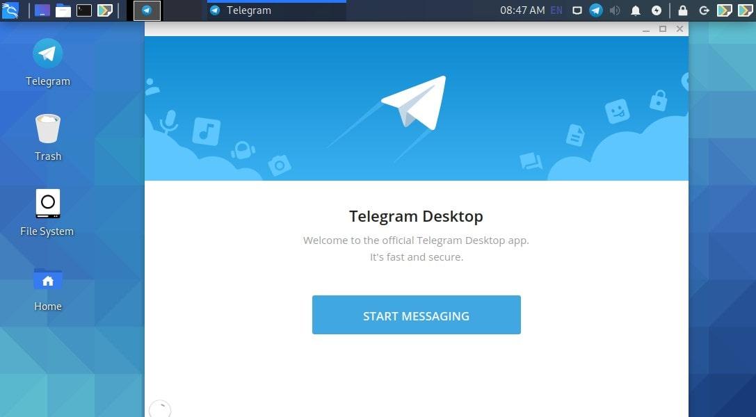Run Telegram on Kali Linux