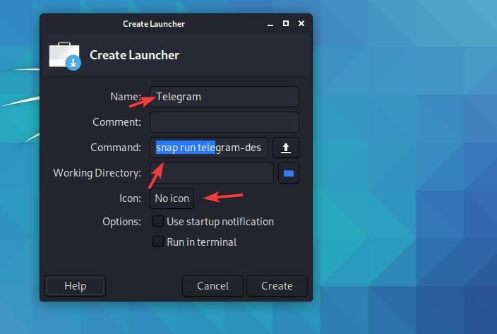 Select Icon for desktio shortcut on Linux