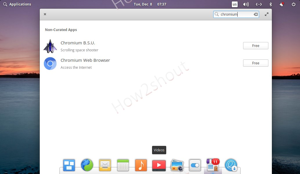 Chromium browser on Elementary OS App center