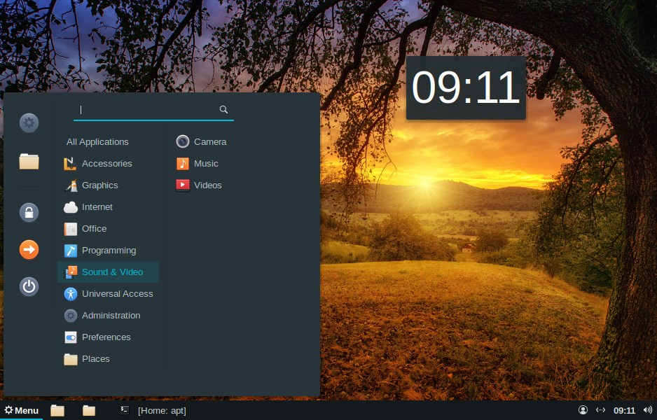 Cinnamon desktop envrionment on Elementary OS