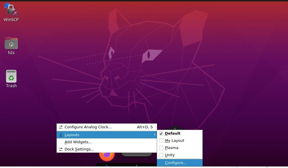 Configure Latte Dock Ubutnu 20.04