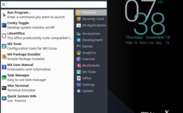 MX Linux horizontal bottom taskbar min