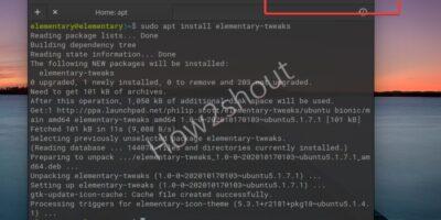 Minimize button on Elementary OS terminal