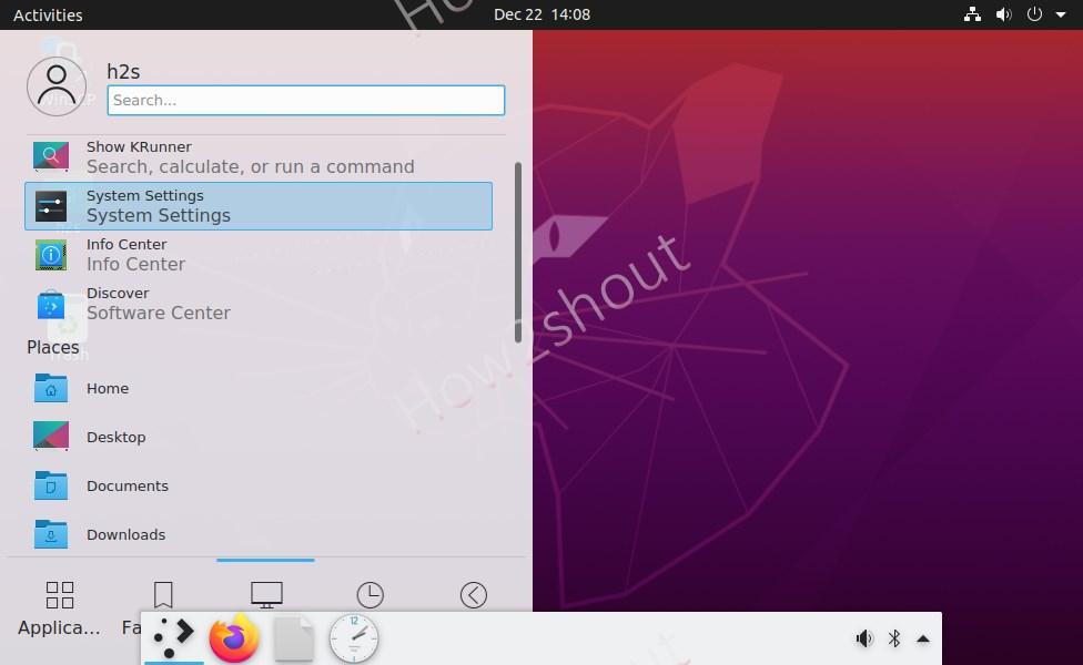 Plasma KDE dock