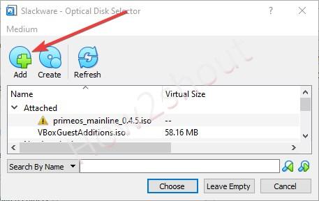 Add downloaded Slackware ISO