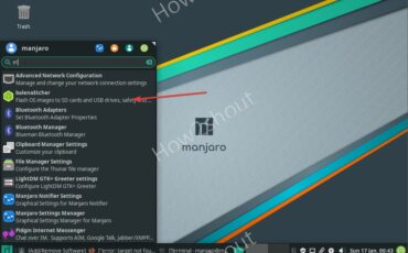 Balena Etcher installed on Manajro Linux