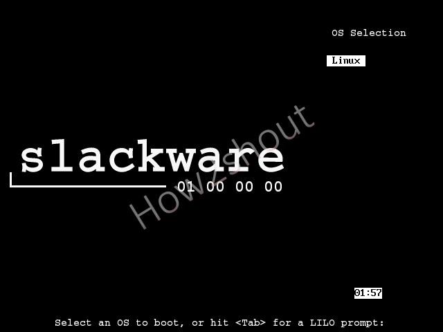 Boot Slackware