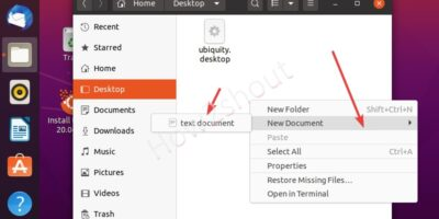 Create a new file on Ubuntu 20.04 with GUI