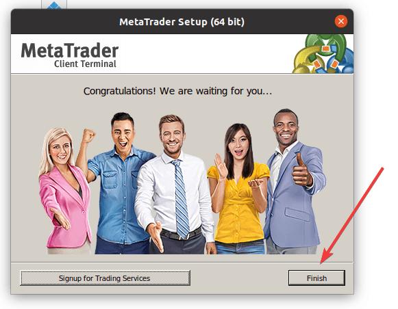 Install MT5 on Linux ubuntu min
