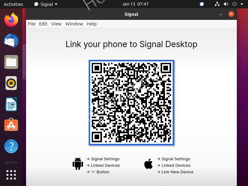 Install Signal app on Ubuntu 20.4 LTS linux