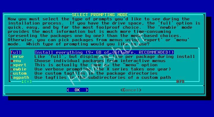 Install complete Slackware linux
