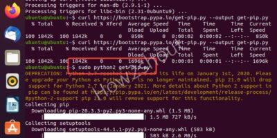 Install python2 and PIP 2 on Ubuntu 20.04