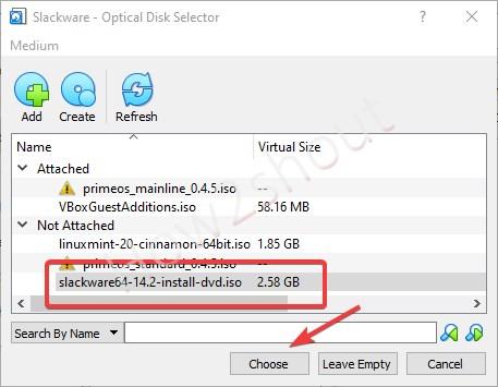 Select Slackware 64 bit ISO