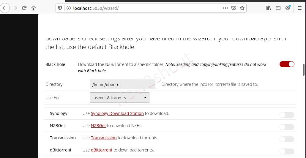 Set download directory