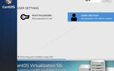 Set root user and install CentOS 7 minimal