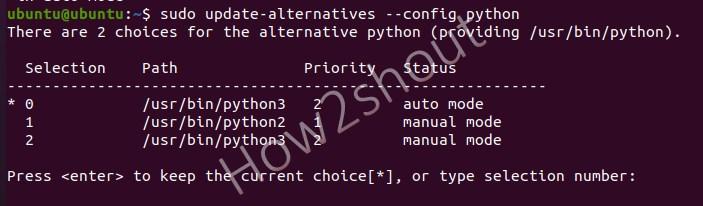 Switch Default Python 2.7 Version Ubuntu 20.04