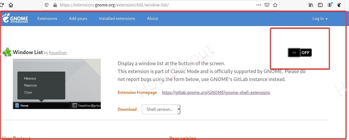 Turn On Windows list extension