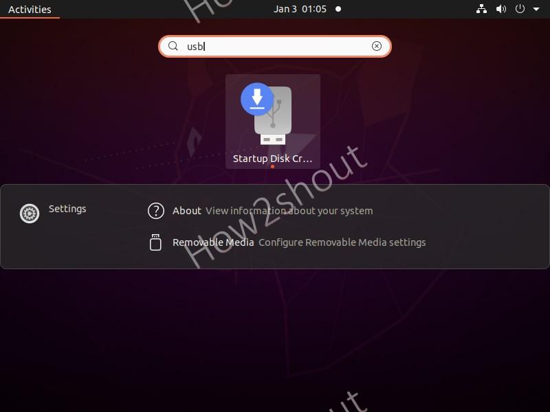Ubuntu Default USB startup creator