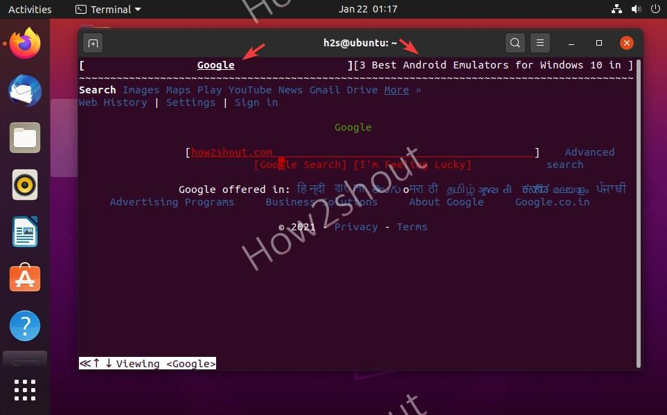 W3M best text browser CentOS Ubuntu Linux