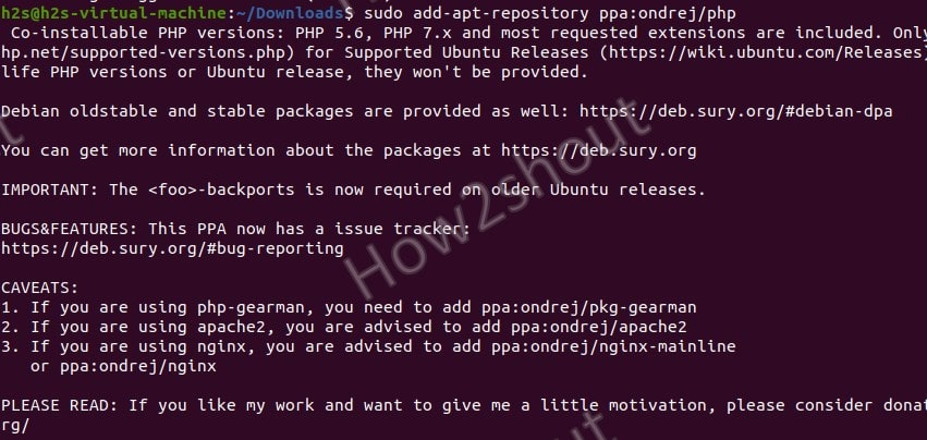 Add PHP PPA reopsitory on Ubuntu 20.04