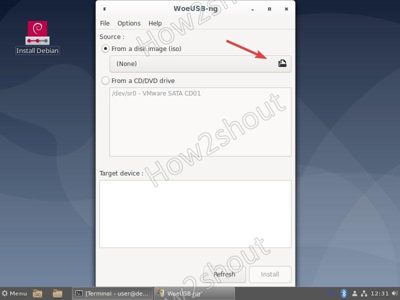Add Windows 10 ISO USB drive