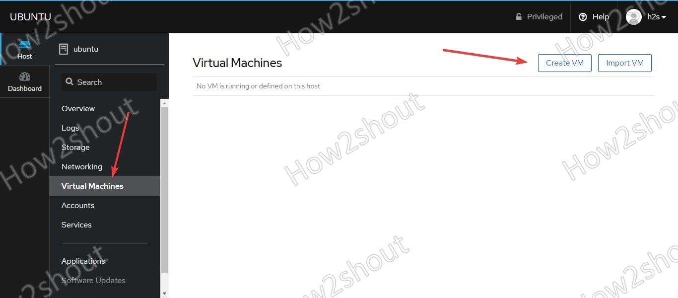 Cockpit Virtual machine install