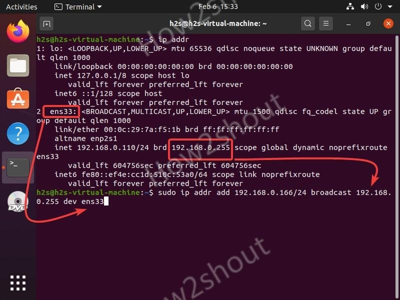 Command to set mutliple IP address