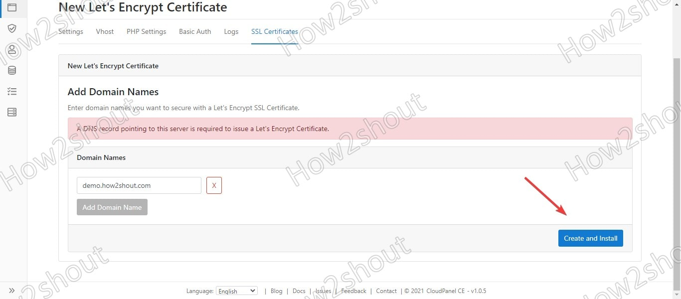 Create a New Lets Encrypt Certificate