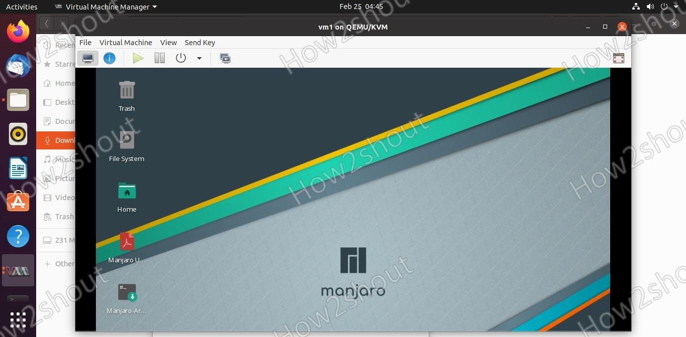 KVM GUI for virtual machine