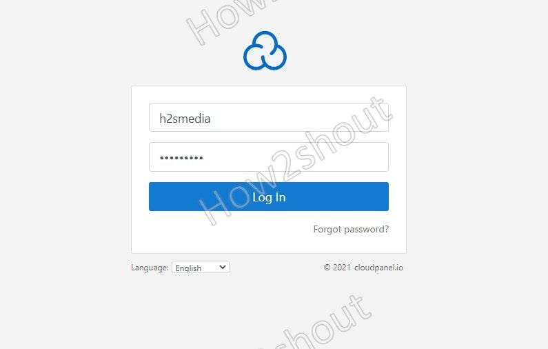 Login to Cloudpanel Dashboard min