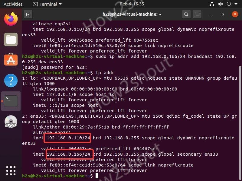 Termporary Multiple Ip addresses