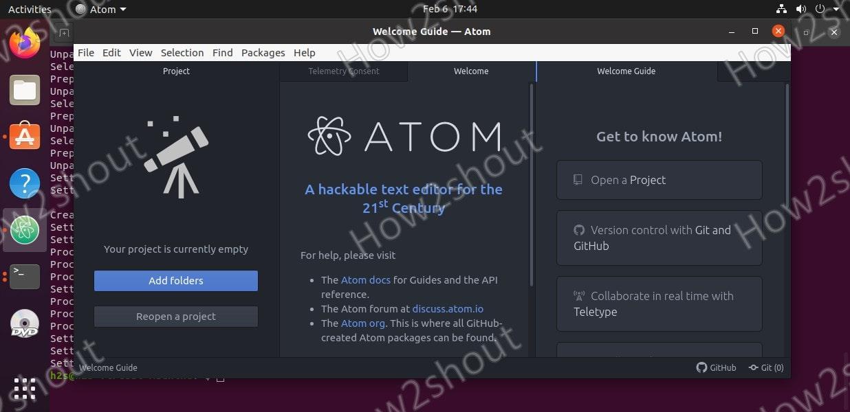install atom ubuntu 20.04