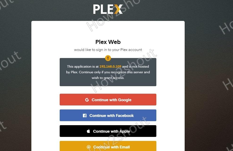 Access Plex Media Server web interface min