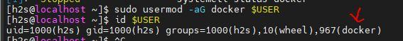 Add your user in Docker group