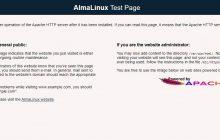 Apache HTTP server test on AlmaLinux