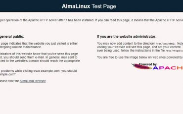 Apache HTTP server test on AlmaLinux