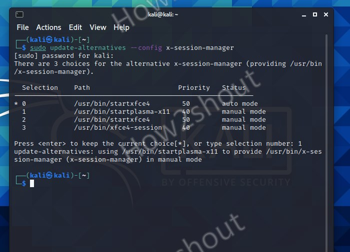 Change Kali Desktop environment