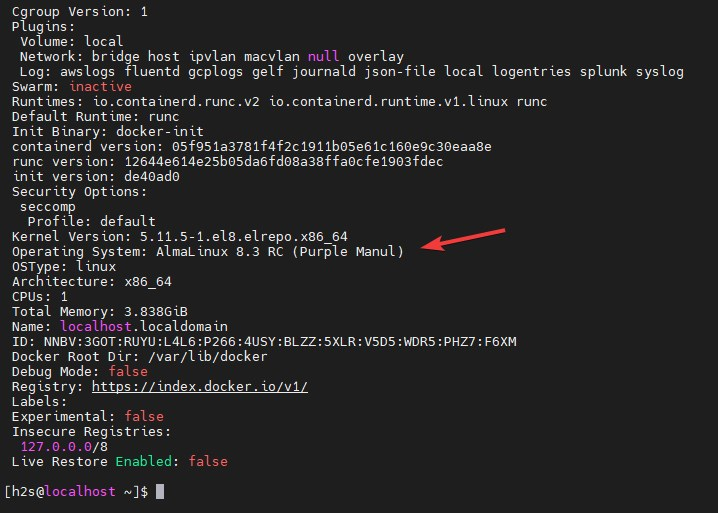 Command to get Docker information RAM and CPU